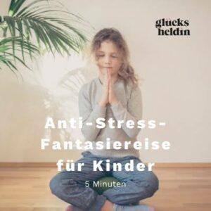 Dieses Cover zeigt ein Kind beim Meditation. Die Meditation hilf Kindern zu entspannen.