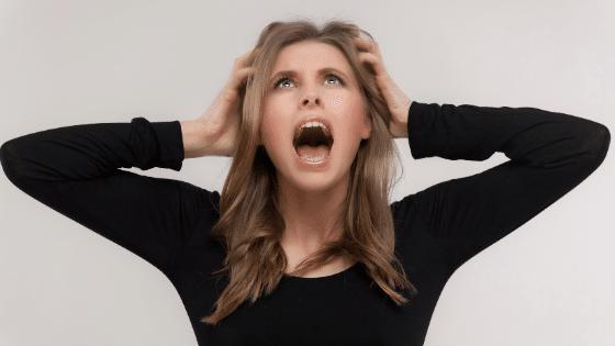gestresste frau und mutter